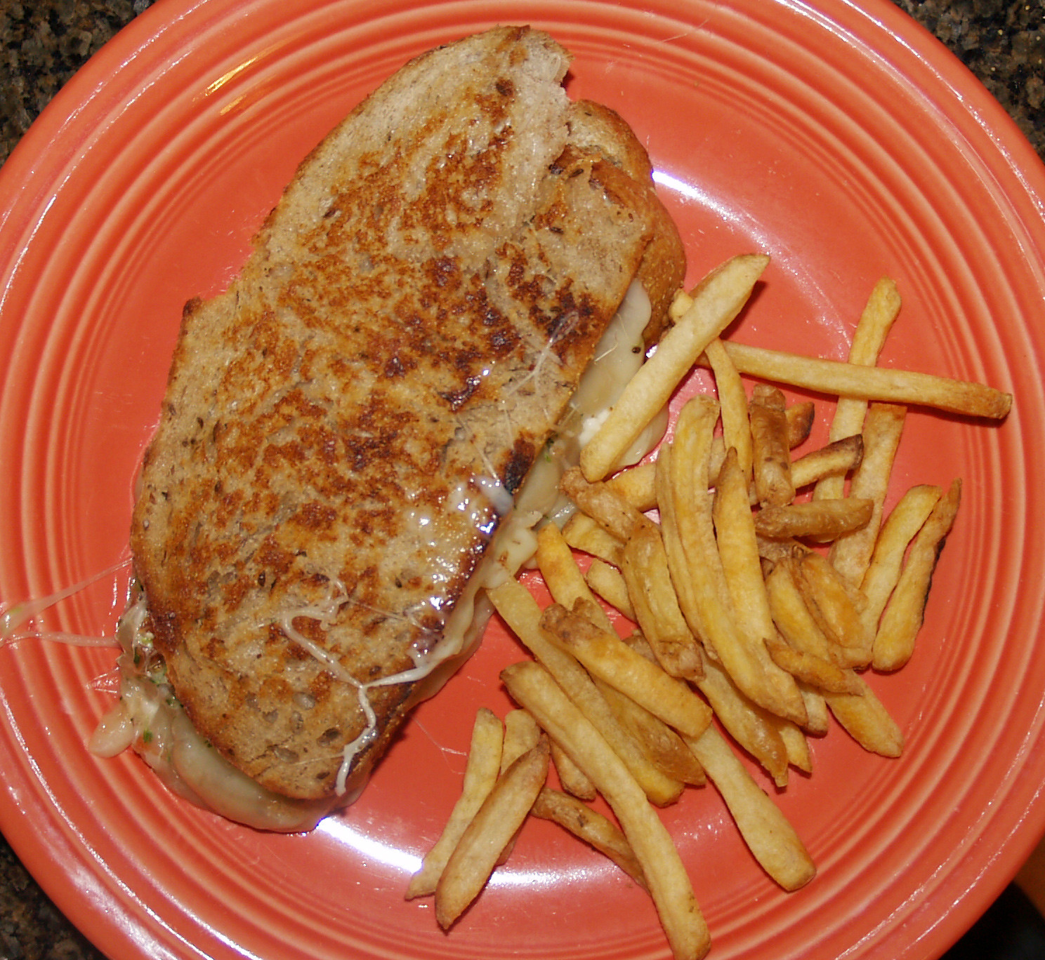 Homemade Salsa Grilled Cheese