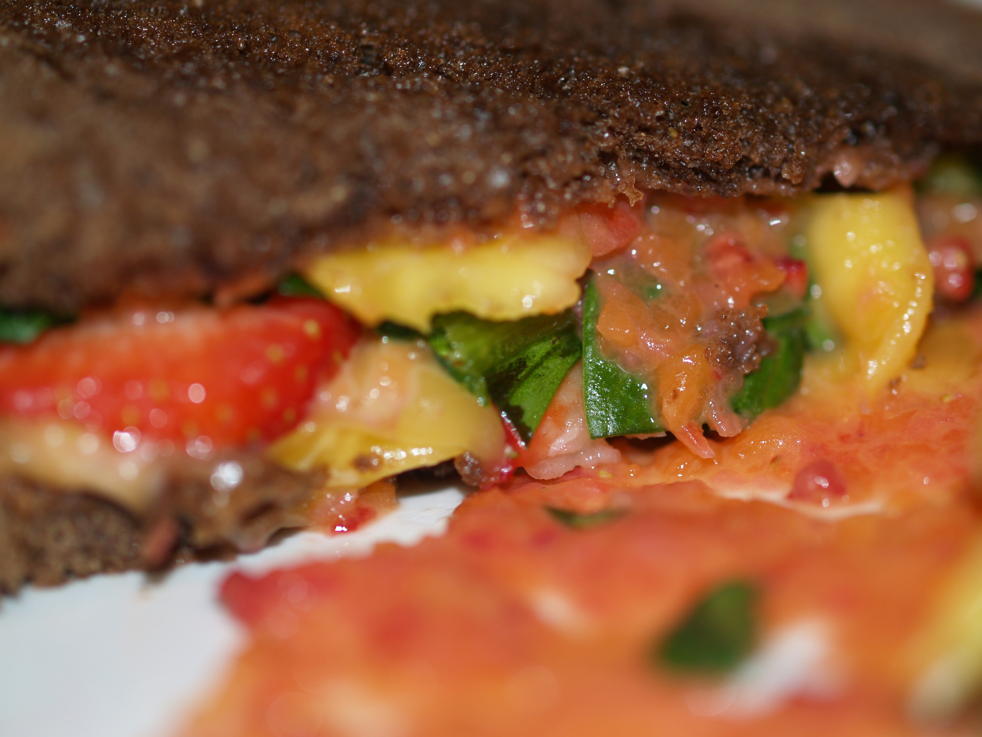 Fruit Salsa Grilled Cheese