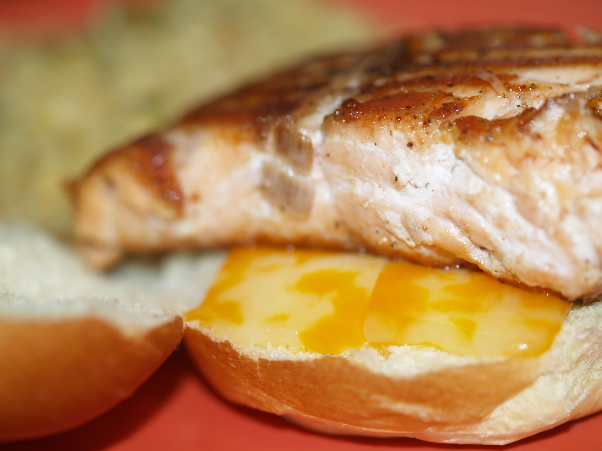Salmon Grilled Cheese