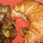 Croissant with Grilled Spinach & Goat Cheese