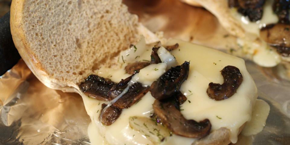 Mushroom and Onions Sliders