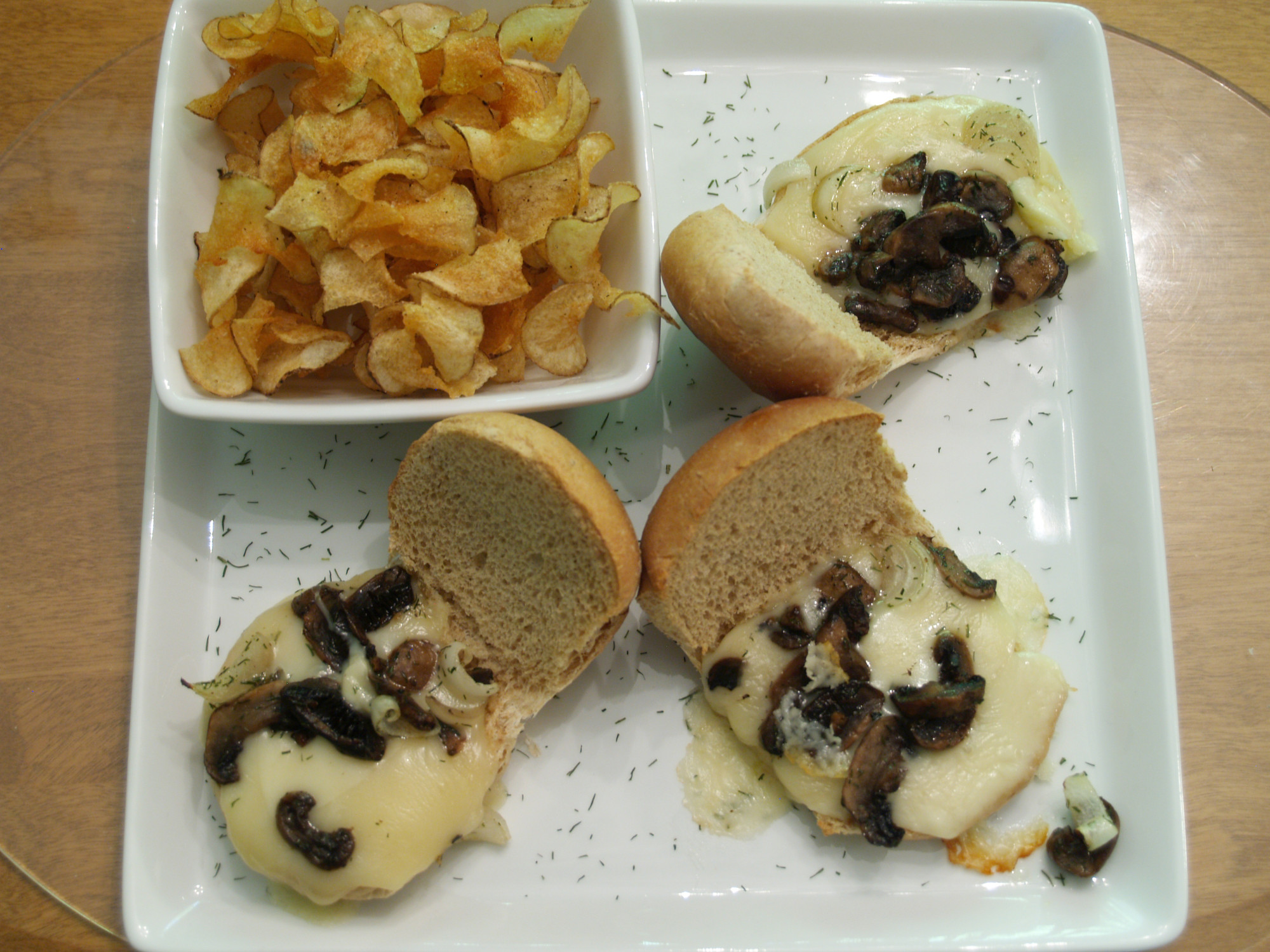 Mushroom and Onions Sliders