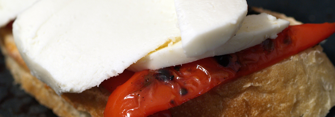 Red Pepper Patriotic Grilled Cheese