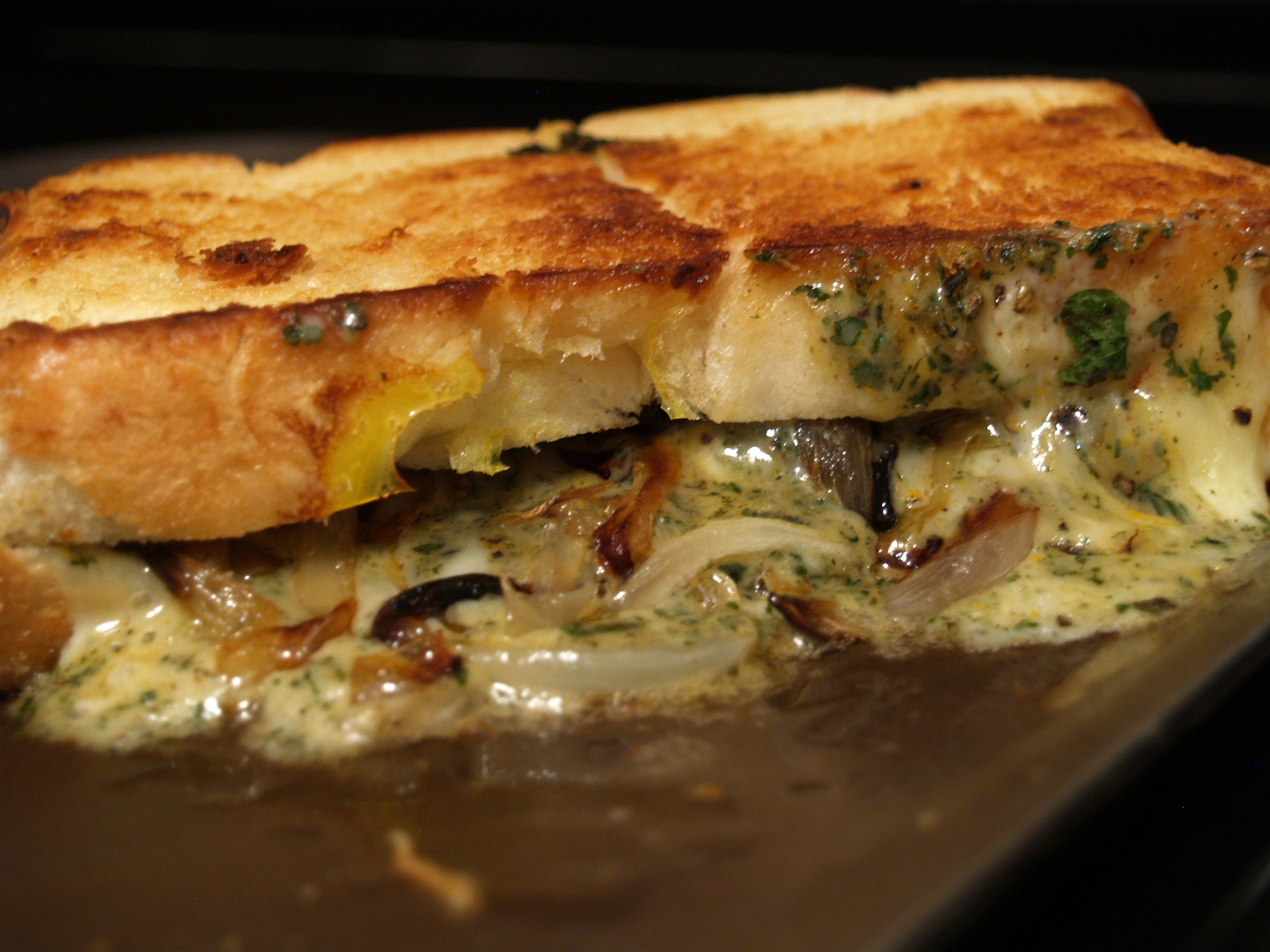 Basil Peppercorn Grilled Cheese