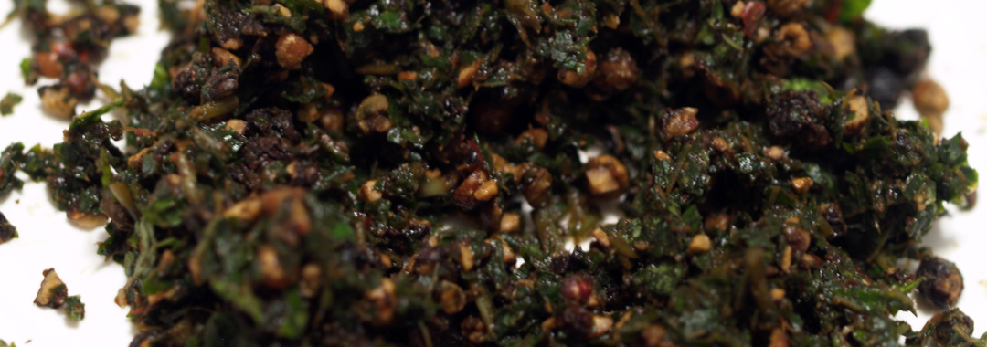 Basil Peppercorn Grilled Cheese: Peppercorn/Basil Mixture