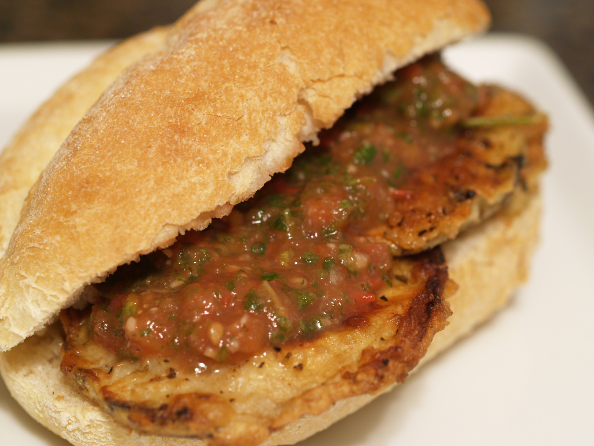 Breaded Eggplant Grilled Cheese