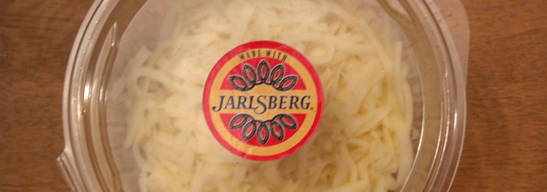 Breaded Eggplant Grilled Cheese: Jarlsberg Cheese