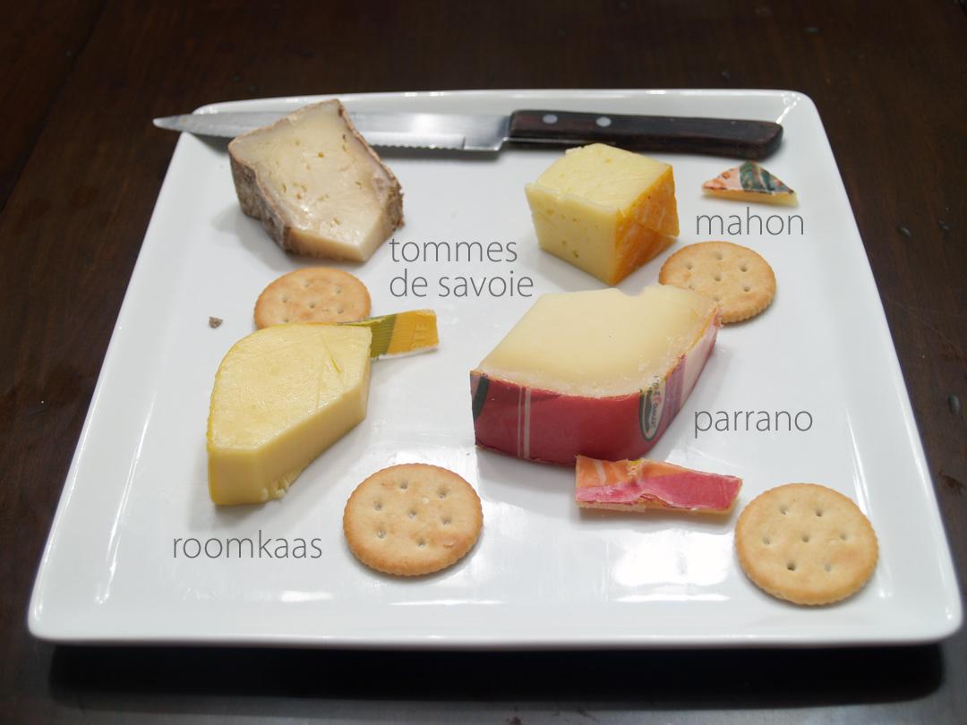 Cheese Tasting: Parrano, Roomkaas, Mahon & Tomme de Savoie