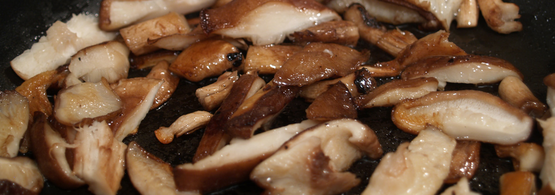 Everything Bagel & Mushroom Grilled Cheese: Shiitake Mushrooms Cooking