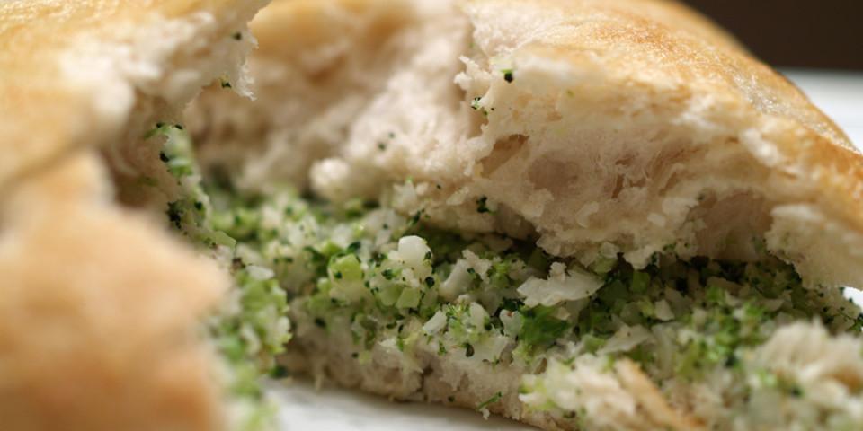 Broccoli & Cauliflower Grilled Cheese
