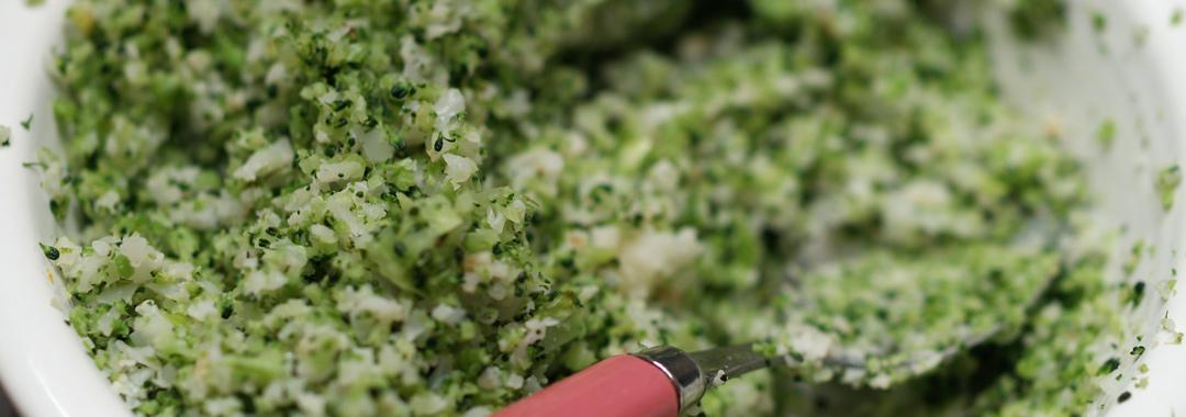 Broccoli & Cauliflower Grilled Cheese: Blended Broccoli/Cauliflower
