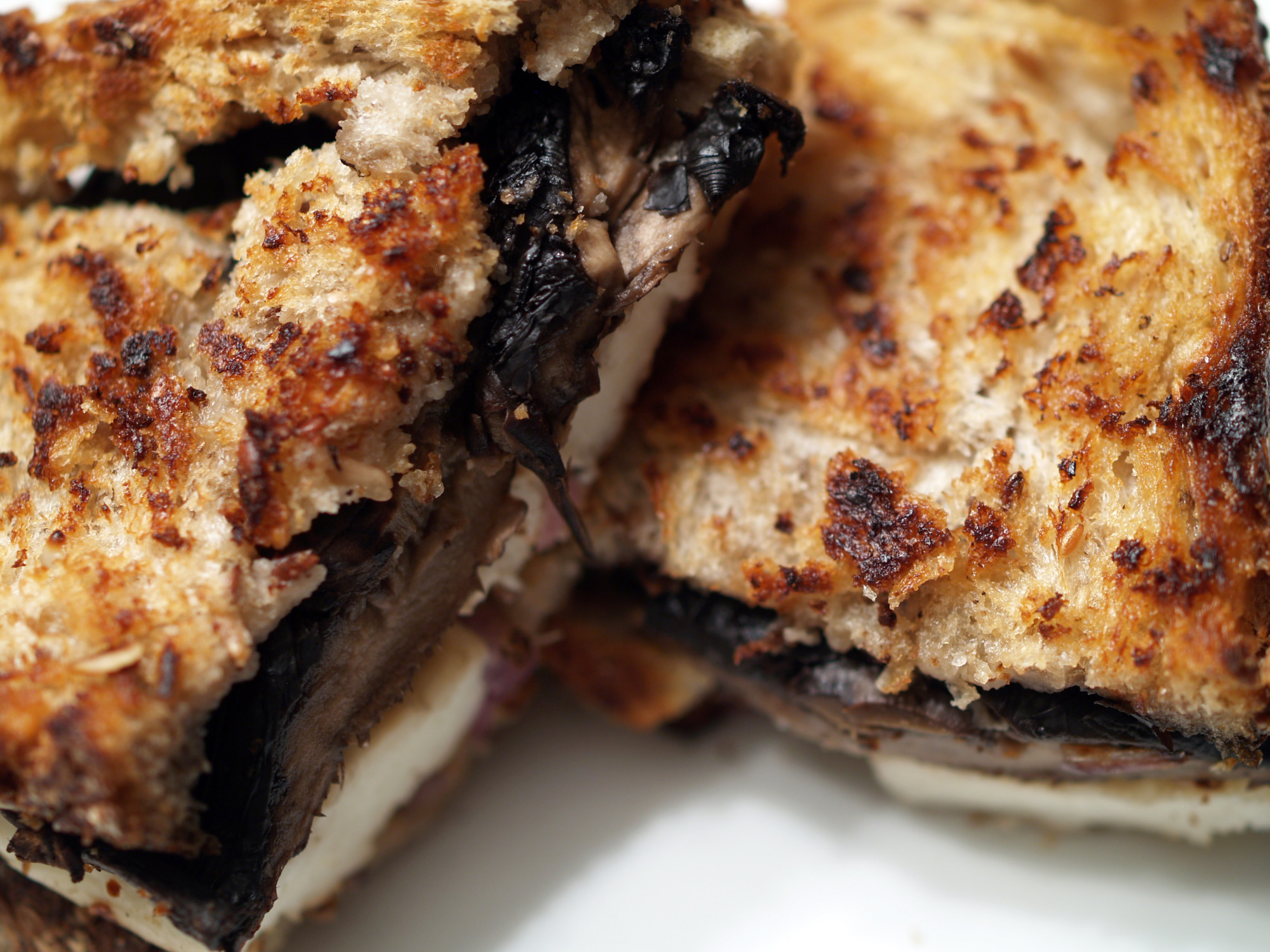 Halloumi & Portobello Grilled Cheese