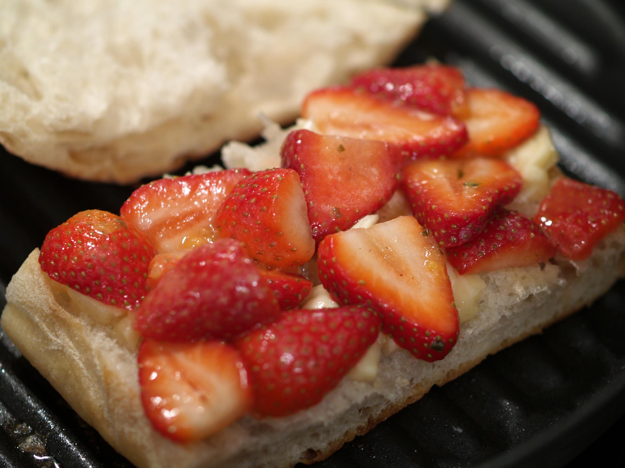 Strawberries & Orange Vinaigrette Grilled Cheese