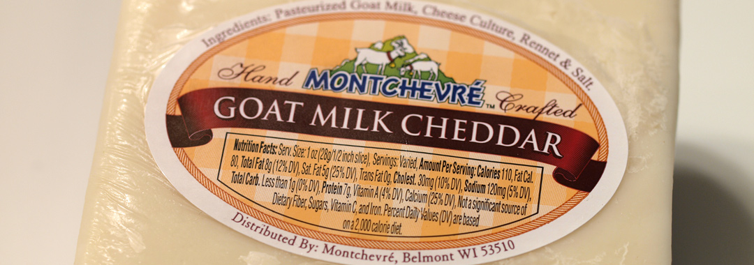 Goat Milk Cheddar Grilled Cheese Ingredients: Goat Milk Cheddar