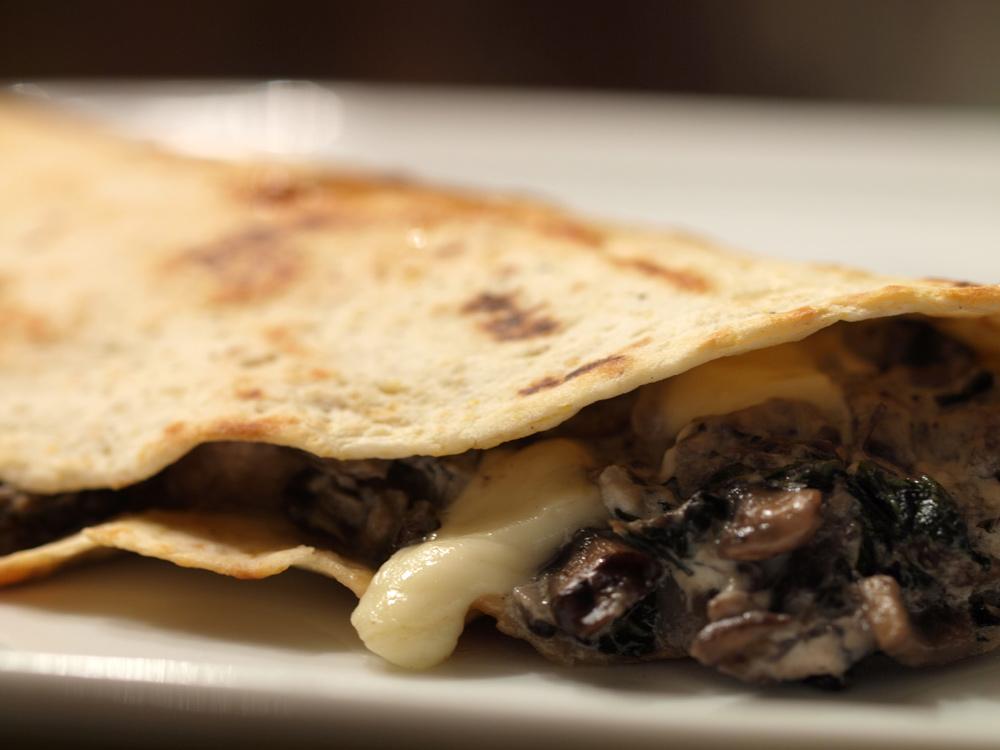 Russ Parsons & SippitySup's Mushroom Quesadilla