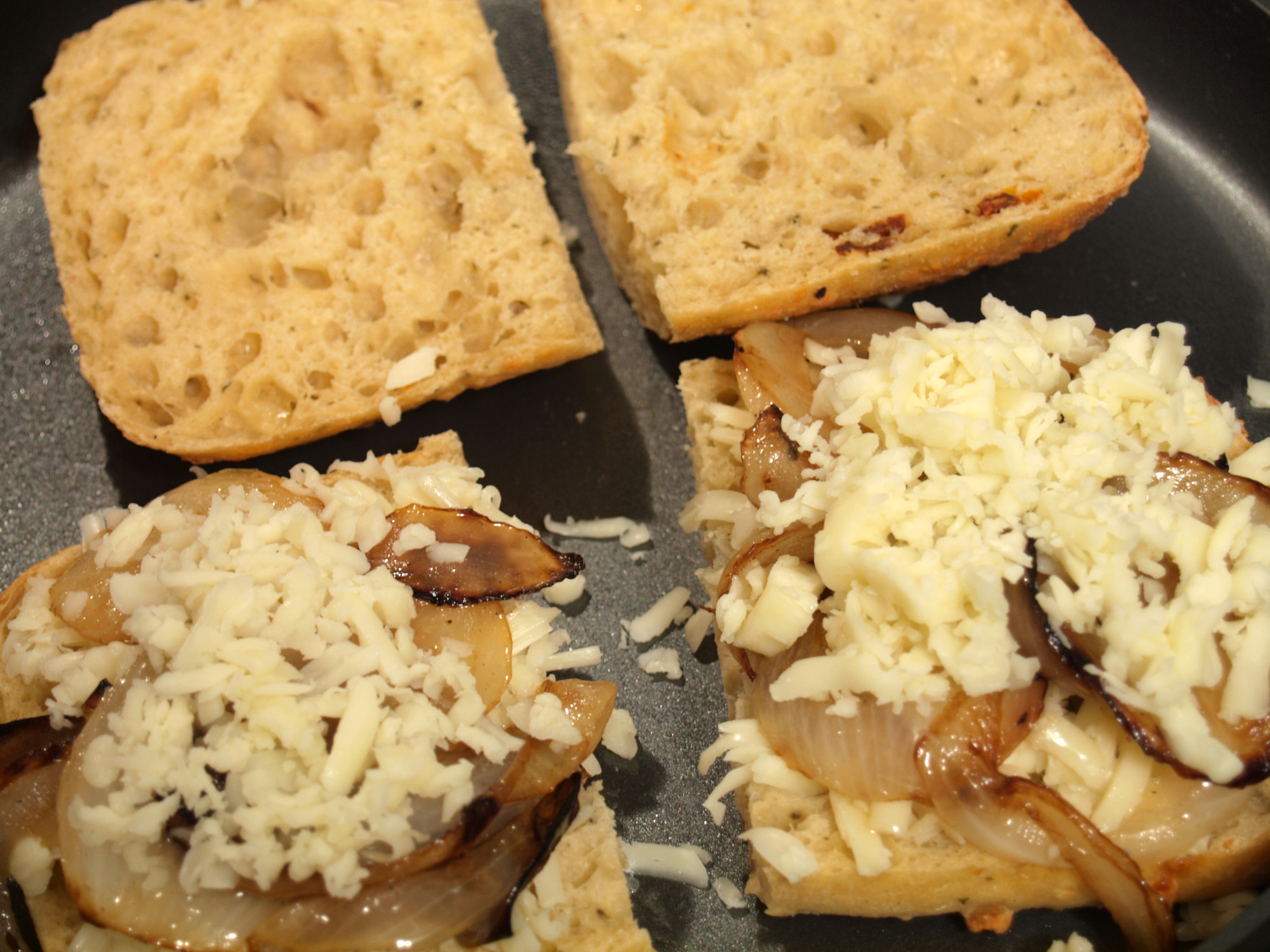 Caramelized Onions Grilled Cheese