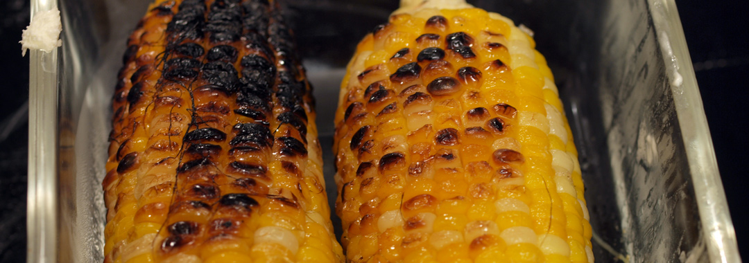 Spicy Roasted Corn Grilled Cheese: Roasted Corn