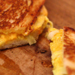 Epicurious: Grilled Cheddar and Fennel Sandwiches with Curry Mayo