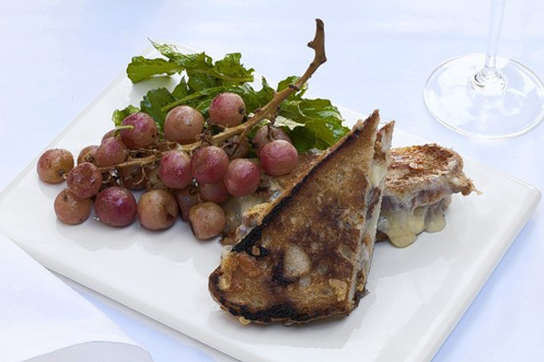 WSJ: Grilled Taleggio-Walnut Sandwich With Roasted Fall Grapes