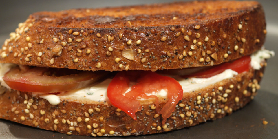 Cream Cheese Grilled Cheese