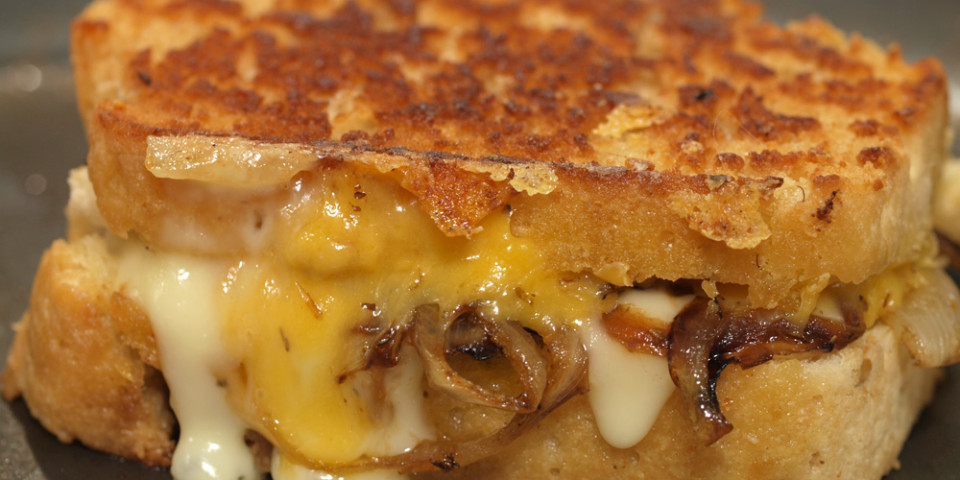 Beer Bread Grilled Cheese