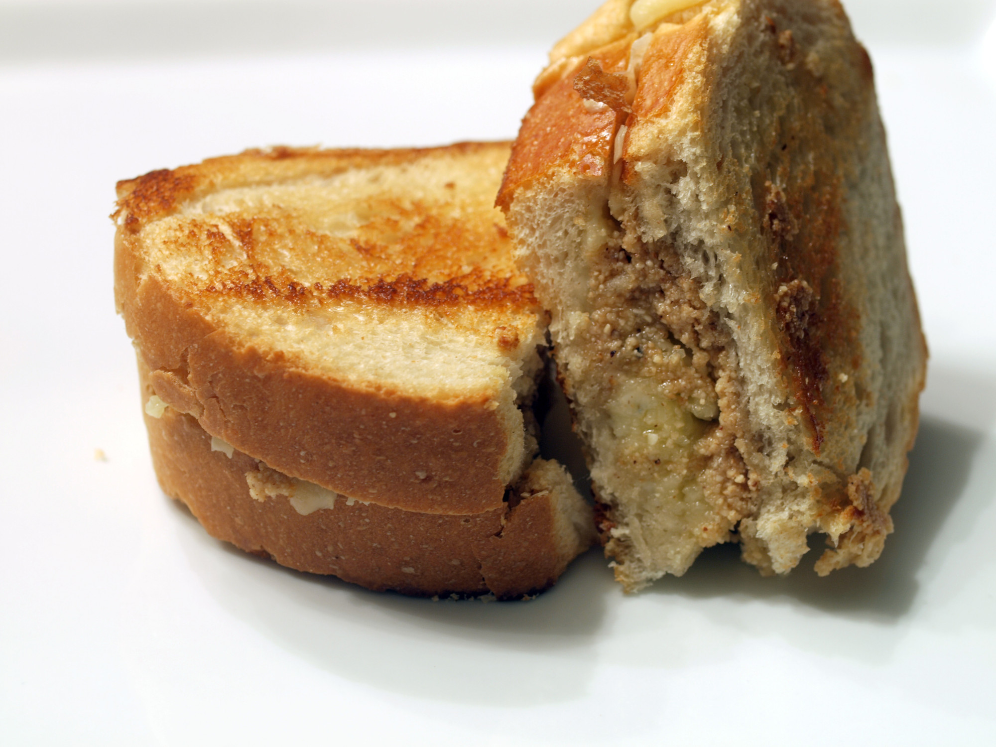 Gruyere & Gorgonzola w/Hazelnut Butter Grilled Cheese