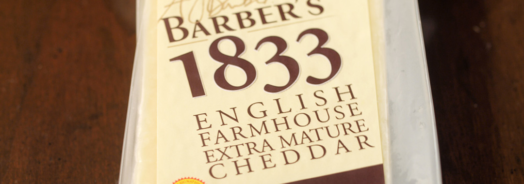 Quadrello di Bufala Grilled Cheese: Barber's 1833 English Farmhouse Extra Mature Cheddar