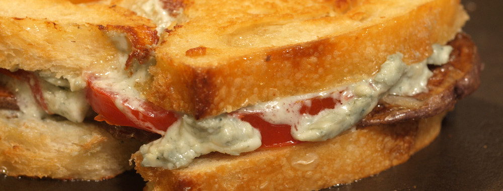 Purple Potatoes Grilled Cheese