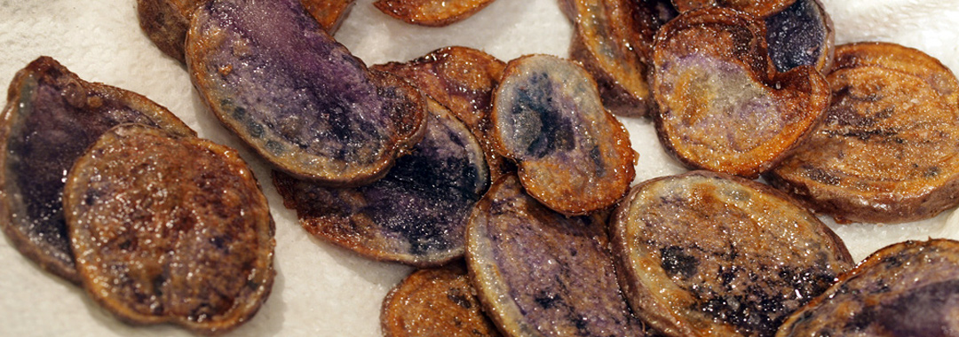 Purple Potatoes Grilled Cheese: Purple Potatoes