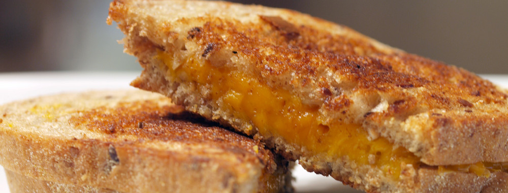 Smoked Cheddar Grilled Cheese