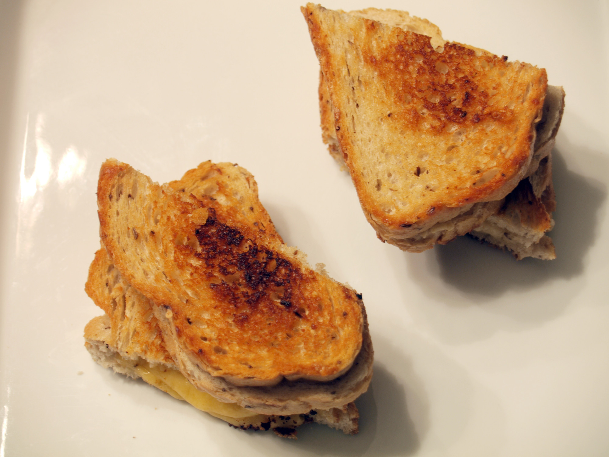 Vintage Van Gogh and Black Pepper Bellavitano Grilled Cheeses