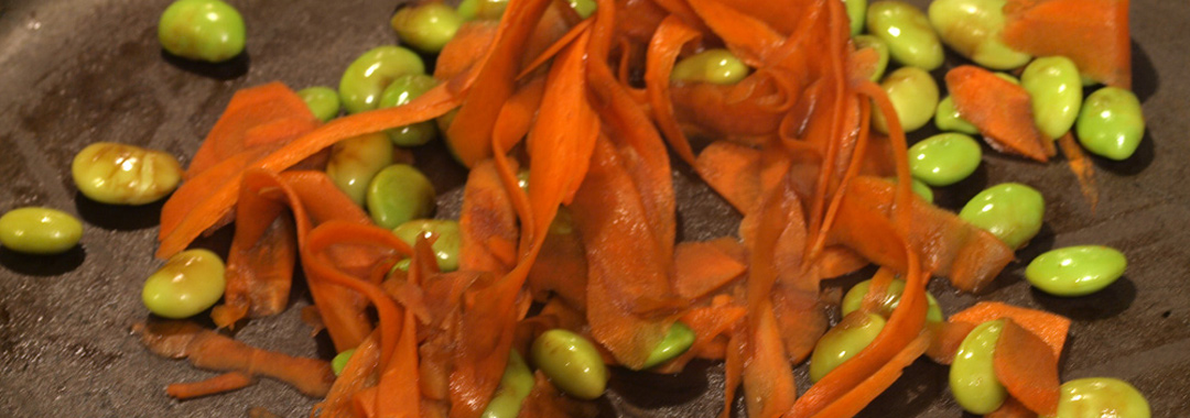 Glazed Carrots & Edamame Grilled Cheese: Balsamic Glazed Carrots & Edamame