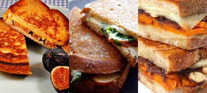 Mini-Grilled Cheese Roundup: Apple Cheddar, Manchego Balsamic Onion & Fig Gouda