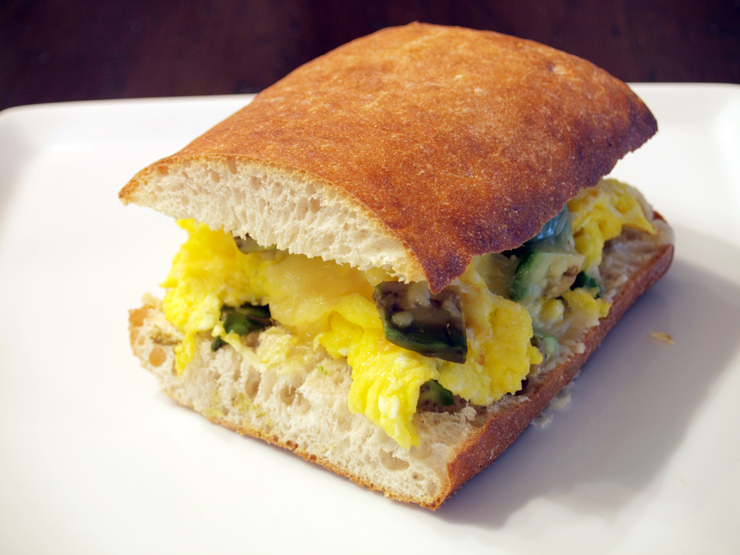 Cabot Sharp Light Cheddar & Scrambled Egg Grilled Cheese