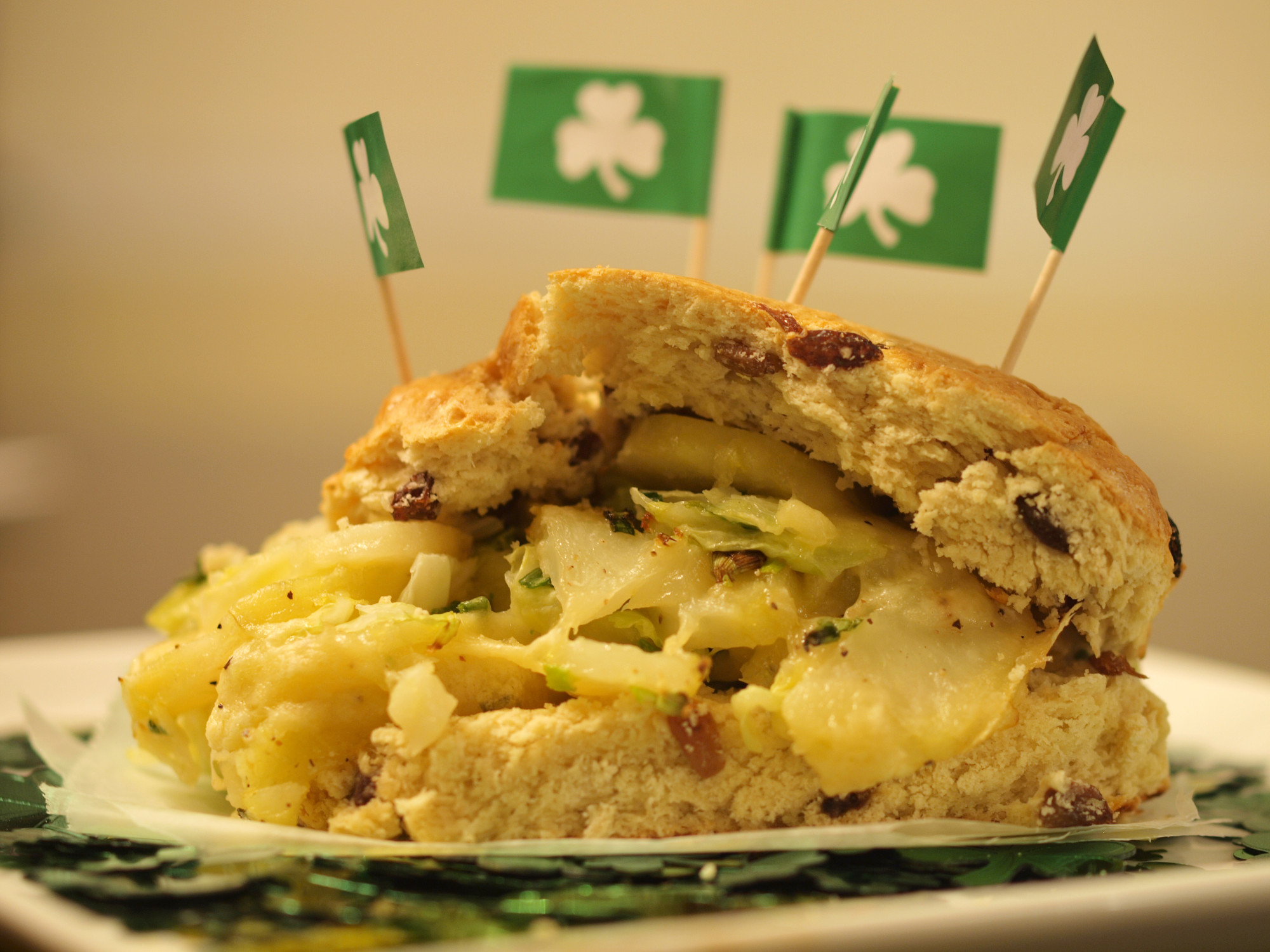 St. Patricks Day Irish Soda Bread Grilled Cheese