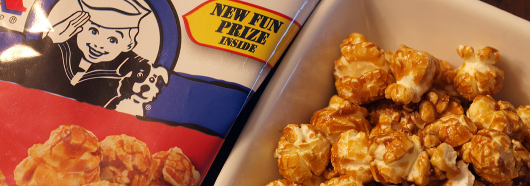 Cracker Jack & Firecracker Mayo Grilled Cheese: The Original Cracker Jack