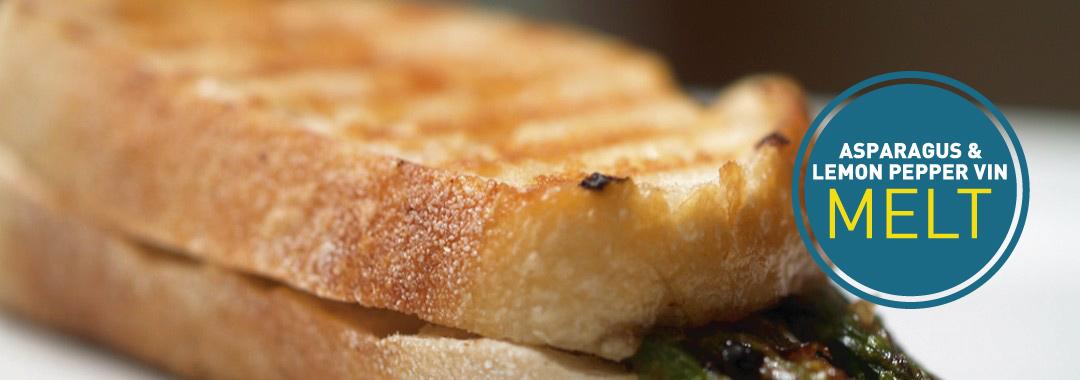 Featured: Asparagus & Lemon Pepper Vinaigrette Grilled Cheese