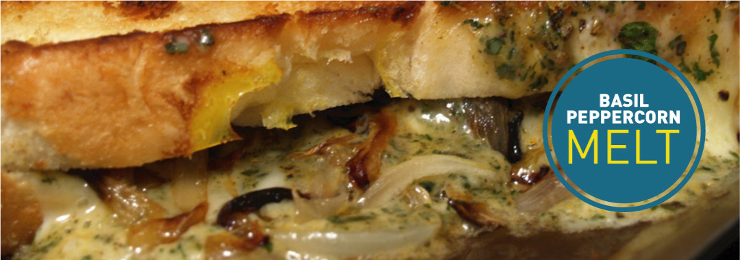 Featured: Basil Peppercorn Grilled Cheese