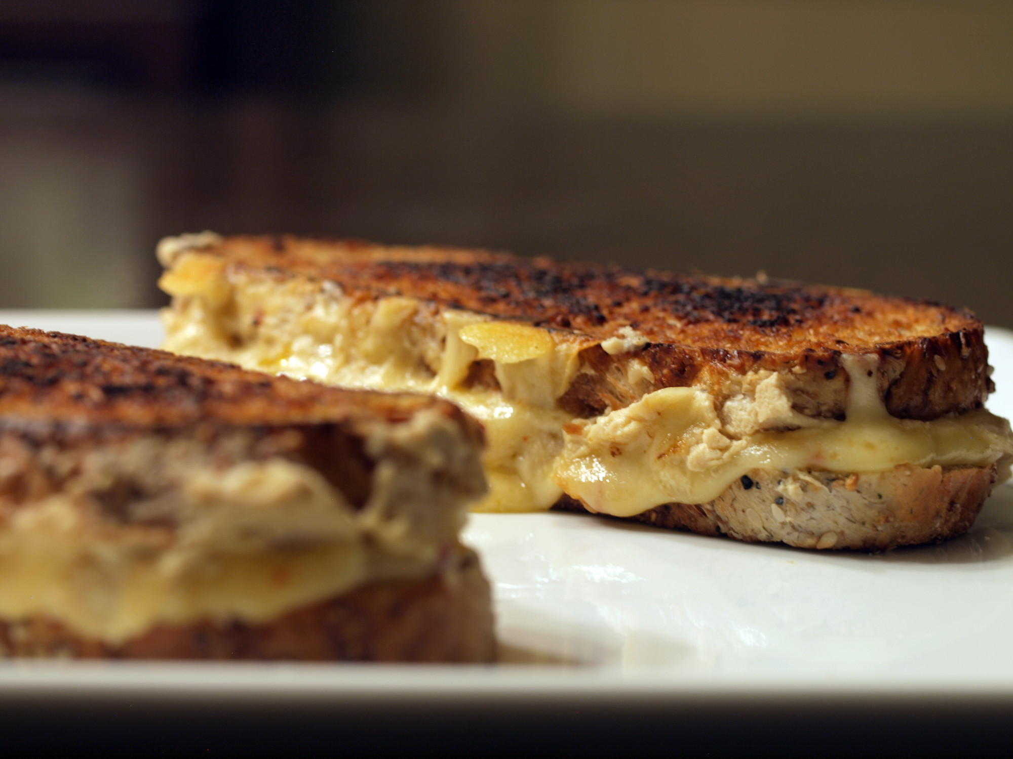 Hummus & Red Pepper Havarti Grilled Cheese