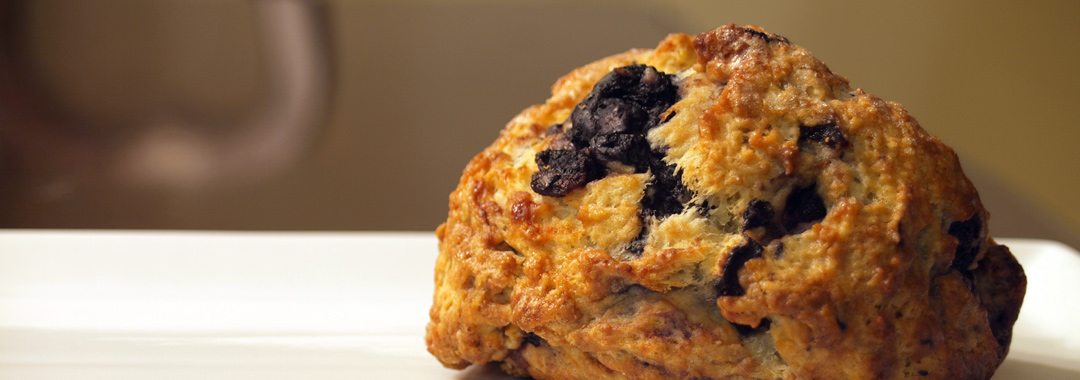 Blueberry Scone & Jeni's Salty Caramel Grilled Cheese Ingredients: Blueberry Scone