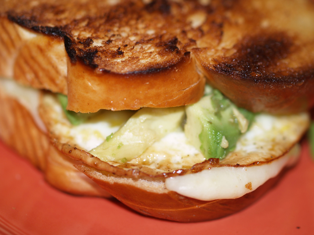 Fried Egg & Avocado Grilled Cheese