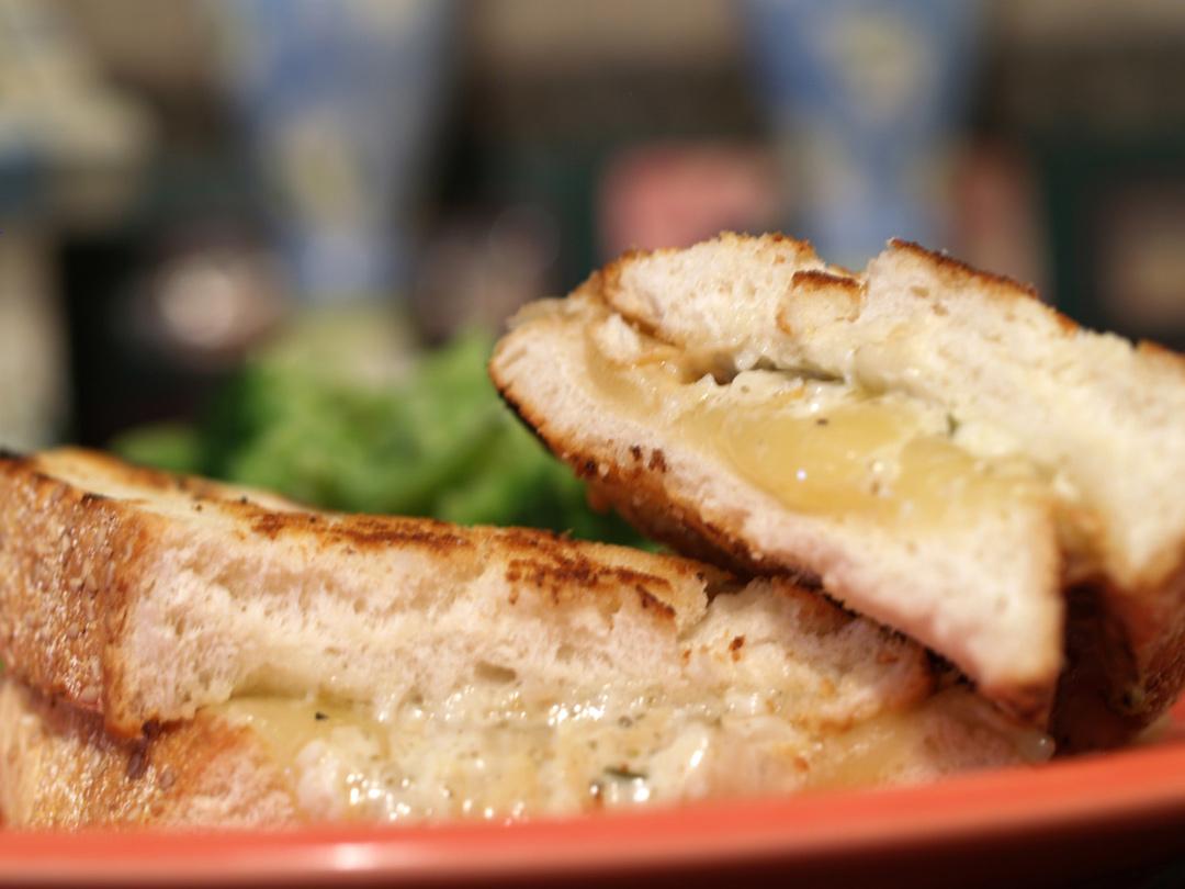 Lemon Caper Aioli Grilled Cheese