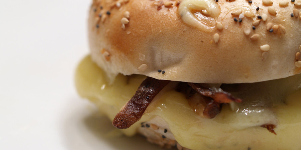 Everything Bagel & Mushroom Grilled Cheese