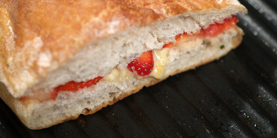 Strawberries & Orange Vinaigrette Grilled Cheese