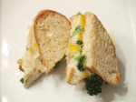 Garlic & Green Onion Mashed Potatoes Grilled Cheese