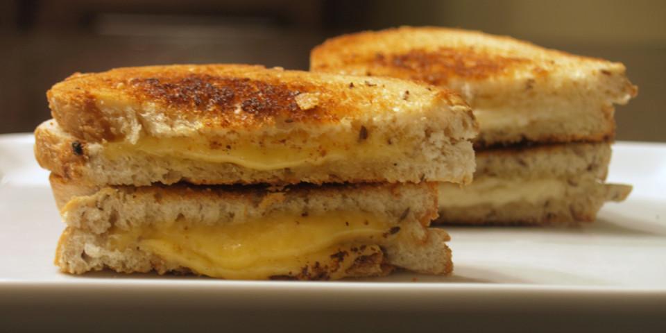 Vintage Van Gogh and Black Pepper Bellavitano Grilled Cheeses