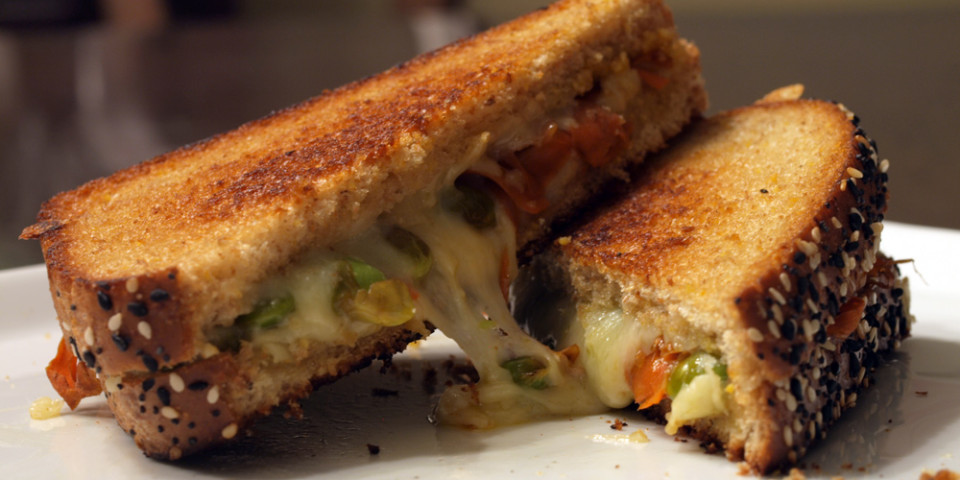 Glazed Carrots & Edamame Grilled Cheese