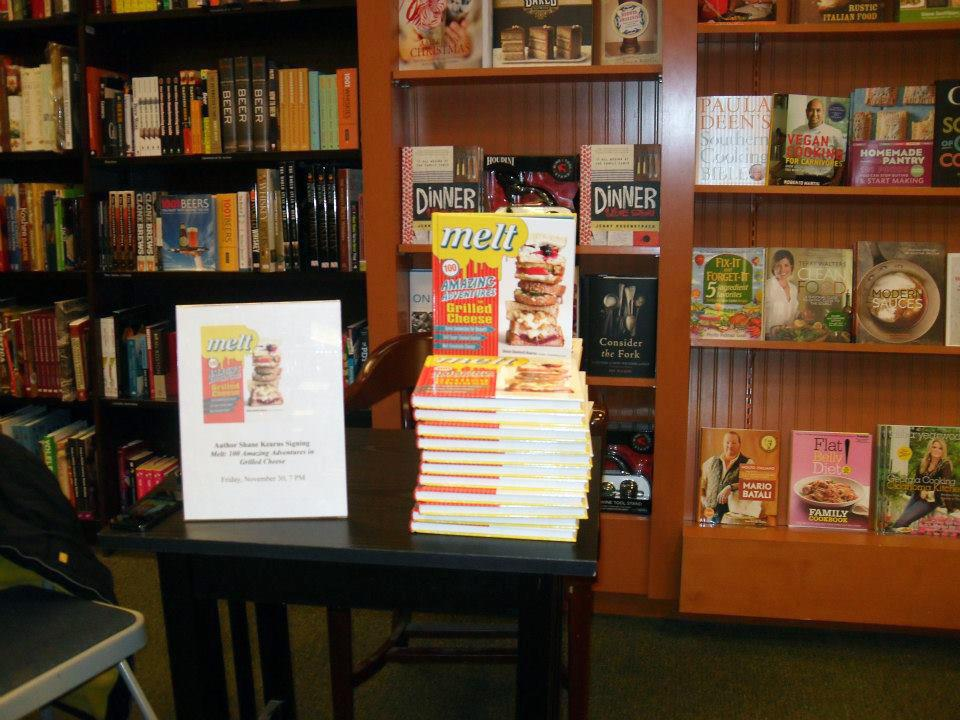 Guest Blog: First book signing for <em>Melt: 100 Amazing Adventures in Grilled Cheese</em>