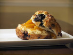 Blueberry Scone & Jenis Salty Caramel Grilled Cheese